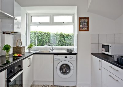 The kitchen at Lighthouse View, Brixham