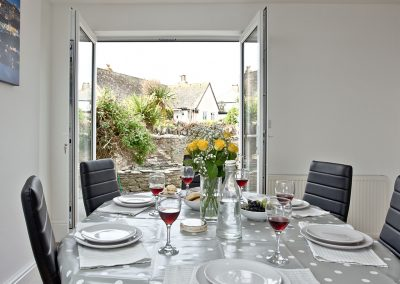 The dining area at Lighthouse View, Brixham