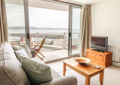 The living area at Lighthouse View, Fort Picklecombe, Maker
