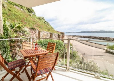 The balcony at Lighthouse View, Fort Picklecombe, Maker