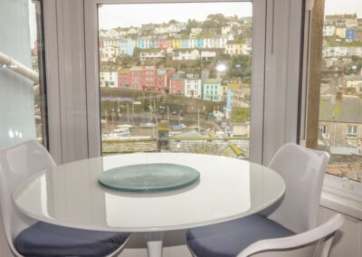 The dining area at Limpet Cottage, Brixham