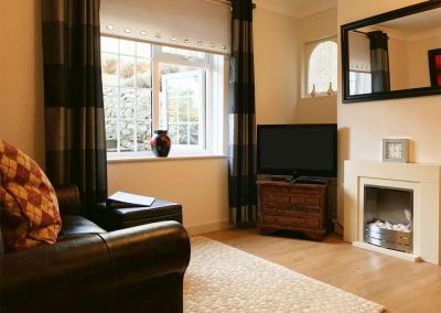 The living area at Lincombe View, Bedford House Apartments, Torquay