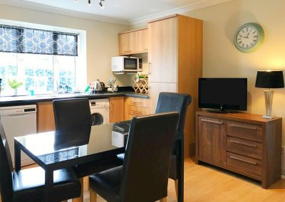 The kitchen & dining area at Lincombe View, Bedford House Apartments, Torquay