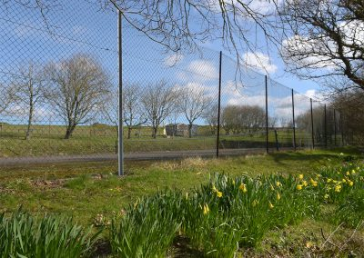 The tennis court at Linhay, Bush