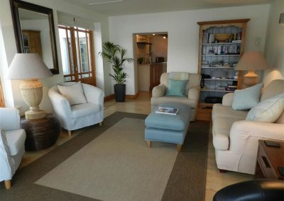 The living area at Lion Cottage, Point