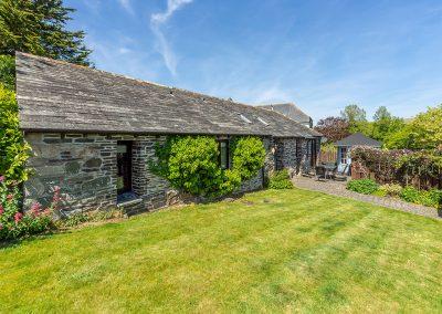 The garden at Little Gull, Roserrow, Polzeath