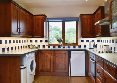 The kitchen at Little Shelvin Farm Cottage, Luppitt