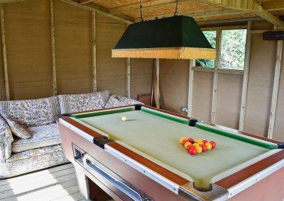 The games room at Little Shelvin Farm Cottage, Luppitt