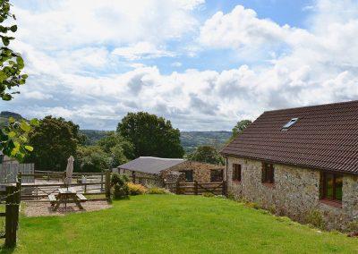 The garden at Little Shelvin Farm Cottage, Luppitt