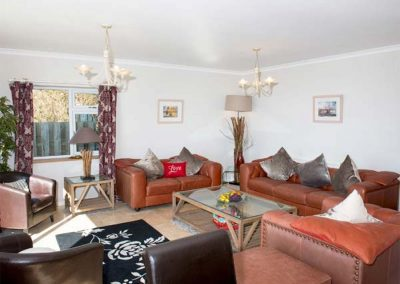 The living area at Looe Island View, Downderry