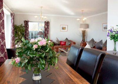 The dining area at Looe Island View, Downderry