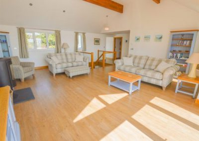 The living area at Lowenna, Coverack