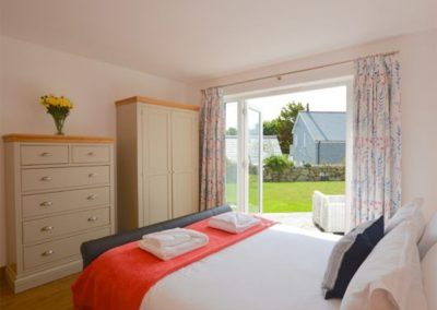 Bedroom #1 at Lowenna, Coverack