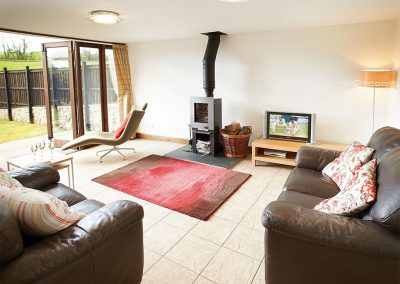 The living area at Hunters Moon, Lower Curscombe Barn, Feniton
