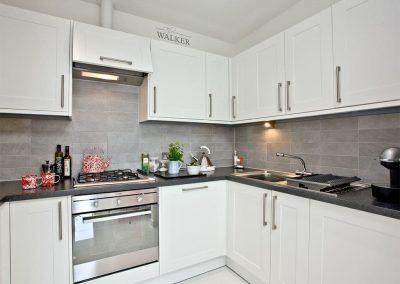 The kitchen at Luna Blue, Tre Lowen, Newquay