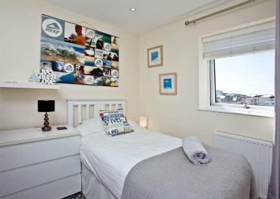 Bedroom #2 at Luna Blue, Tre Lowen, Newquay