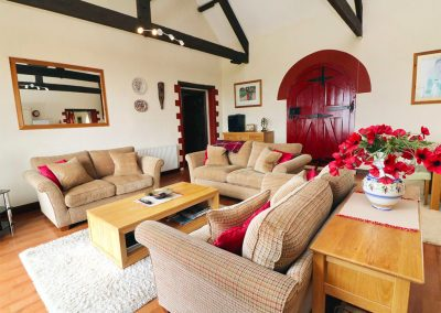 The living area at Lundy View, The Granary, Higher Clovelly