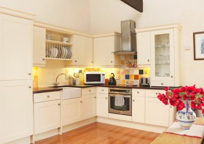 The kitchen at Lundy View, The Granary, Higher Clovelly