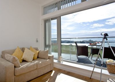 The living area at Lusty Beach View, One Lusty Glaze, Newquay