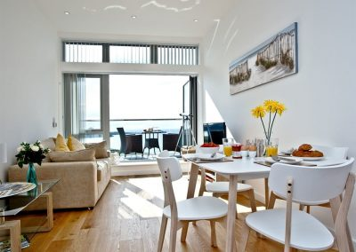 The dining area at Lusty Beach View, One Lusty Glaze, Newquay