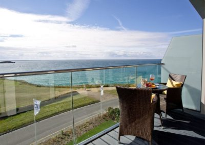 The balcony & sea view at Lusty Beach View, One Lusty Glaze, Newquay