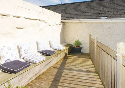 The suntrap terrace @ Lyndale Cottage, Kingsand