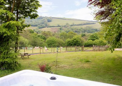 The view from the jacuzzi & patio at Lynher Cottage, Hatt