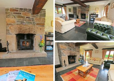 The living area at Marhayes, Camelford