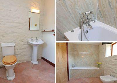 Bedroom #3 en-suite at Marhayes, Camelford