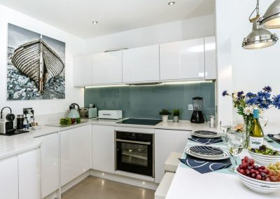 The kitchen at Marina Beach House, Marina Court, Torquay