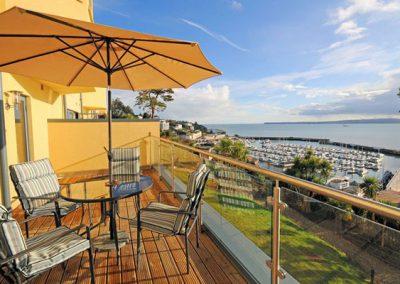The balcony @ Masts A3 with views over the marina