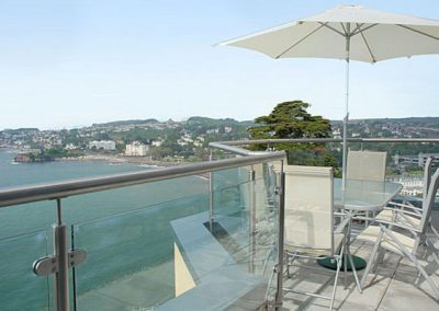 Dine alfresco and enjoy the stunning views from the patio @ Masts B11, Torquay