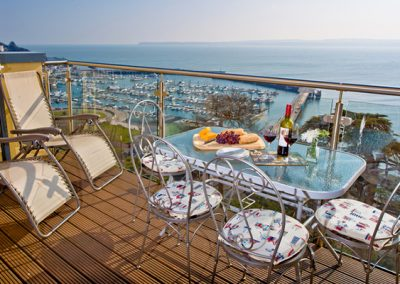 The balcony has great views across the sea @ Masts B7, Torquay