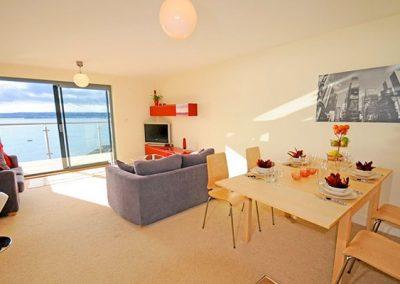 The living area @ Masts C2, Torquay