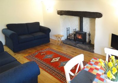 The living area at Meadow Brook Cottage, Sandridge