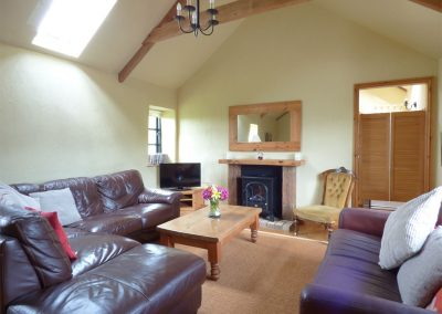 The living room at Meadow Cottage, Torfrey