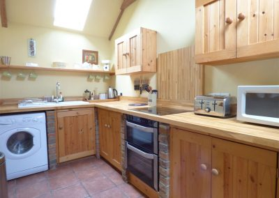 The kitchen at Meadow Cottage, Torfrey