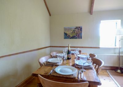The dining room at Meadow Cottage, Torfrey