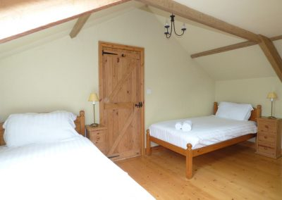 Bedroom #3 at Meadow Cottage, Torfrey