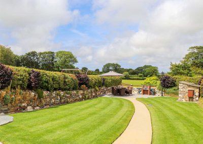 The garden at Meadowview Cottage, Trelash
