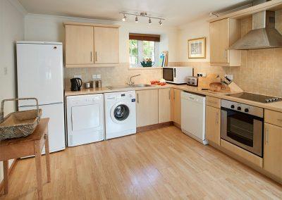 The kitchen at Mews Cottage, Bonython Estate, Cross Lanes