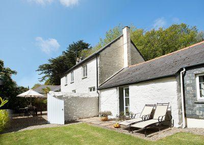 The garden at Mews Cottage, Bonython Estate, Cross Lanes