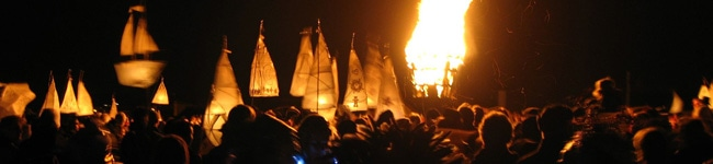 Based on ancient Cornish traditions, the Montol Festival  in Penzance is quite a spectacle and the ideal event to attend to get in the Christmas spirit.