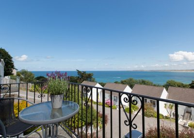 Enjoy fantastic views from the balcony @ Mordros, St. Ives