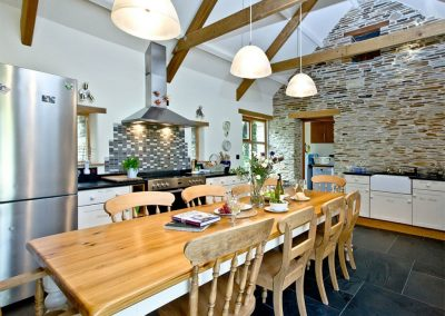 The kitchen & dining area at Mowhay Barn, St Ervan