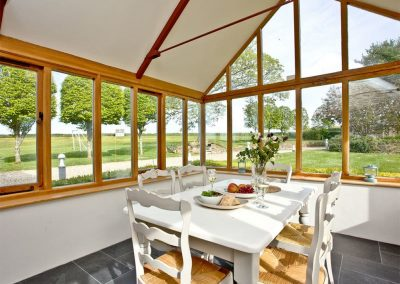 The sun room at Mowhay Barn, St Ervan