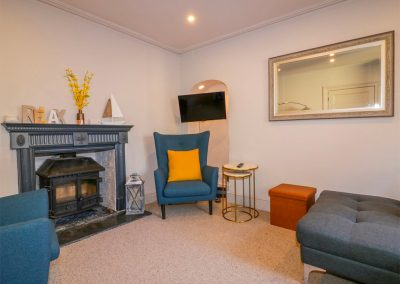 The living area at Mums Cottage, Mevagissey