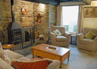 The living area at Nan-Tis, St Issey