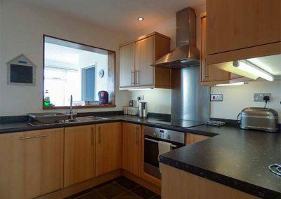 The kitchen at Nans-Tek, Crackington Haven