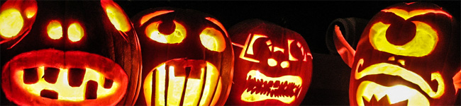 The National Trust excels at events with a Halloween theme, including ghost tours, murder mystery evenings, carving a pumpkin & making a witch's broom.